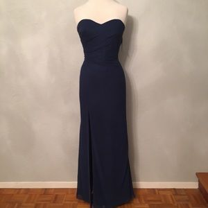 Faviana, formal evening gown, Navy Blue, size 14